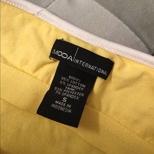 Moda International Tops - Yellow Halter Top
